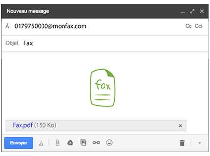 Envoyez vos fax en envoyant un mail